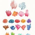 Watercolor Coral Reef Clipart - Under the Sea clipart, Coral Reef Clipart, Ocean Clipart, Sea Coral Clipart, Anemone, Sea life clipart, PNG
