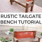 How To Build A Bench From An Old Tailgate - Addicted 2 DIY