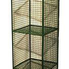 4 Tier Square Shelf Unit Green