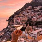 Sunset time in Positano Italy