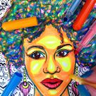 African American Coloring Page PDF | Curly Hair | Black Girl | African Woman