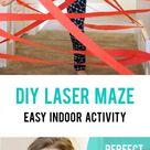 DIY hallway laser maze {indoor fun for kids} - It's Always Autumn