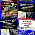 4th Grade Writing BUNDLE Expository, Narratives, Prompts, Editing, PDF & Digital
