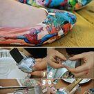 Comic Book Shoes - DIY - AllDayChic