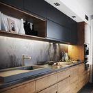 Moderne dunkle Küche auf Behance – #Behance #Dark #Küche #Modern #modernkitchens Check mo...