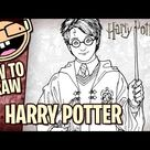 How to Draw HARRY POTTER (Harry Potter Movie Series)   Narrated Easy Step-by-Step Tutorial
