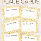 FREE Printable Thanksgiving Place Cards - The Inspiration Board
