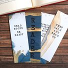 Printable Bookmark Set With Bookish Quotes Digital PDF | Etsy