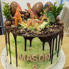 Dinosaurier-Motto-Torte für einen Jungen zum 3. Geburtstag Check more at https://modeiki.hus...