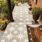 Star Tile Stencil- Geometric Cement TILE STENCIL for Painting Tiles - Reusable Tile Stencils for Home Makeover-Paint Your Old Tile and Save