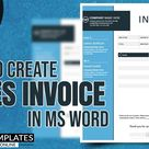 How to Create Sales Invoice in MS Word | Invoice Design | DIY