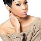 TARA 1 2 3 27PCS 1B Off Black   Outre Velvet Remy 100 Human Hair Weave