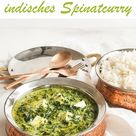 Palak Paneer. Indisches Spinat-Curry.