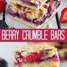 Berry Crumble Bars - Celebrating Sweets
