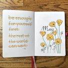 May 2020 Plan With Me   Golden Poppies Bullet Journal Theme and Set Up