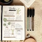 55+ Creative Book and Reading trackers for your Bullet journal