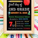 First day of school sign Editable