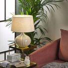 Lámpara de mesa de cerámica beige WIEN