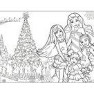 Barbie's christmas coloring pages - Hellokids.com
