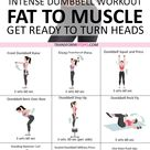 💯Rapid Results Dumbbell Workout Adding Weights Will Turn Fat to Muscle Get Ready to Turn Heads…