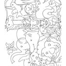 Jungle animals for kids coloring page | Download Free Jungle animals for kids coloring page for kids