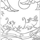 Kids-n-Fun   Kleurplaat Lion King of de Leeuwenkoning Hakuna Matata