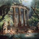 *Rococo Revisited - Detail of the Bathing Pool by Hubert Robert in the...