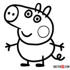 How to draw George Pig - Sketchok