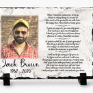 Memorial Plaque slate   When I am gone release me   Keepsake Slate   Sympathy Gift - 5x7 Rectangle / Matte Photo Finish