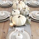 Simple Neutral Fall Tablescapes - Our Signature Swag