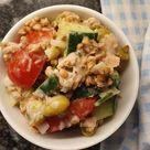 Low Carb - Edamame-Thun-Buchweizen-Salat (Low carb edamame tuna buckwheat salad)
