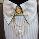 Gold Color Collar Pin Collar Bar Shirt Collar Clips | Etsy