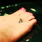 Tiny Foot Tattoos