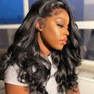 Where's The Lace! Swiss HD Transparent Loose Body Wave Lace Frontal Wig - 18 inches