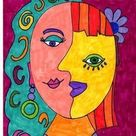 Picasso Inspired Art Activity, Cubism and Modern Art,Sub Plans,Fun Stuff