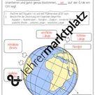 Das Gradnetz der Erde   Materialpaket Wissenskartei, Arbeitsblätter, Spiel, Tafelbilder – Unterrichtsmaterial im Fach Erdkunde