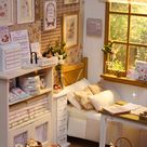 ♥ Handmade miniature diorama NATURE ZAKKA BEDROOM ♥