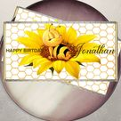 Honey Bee Chocolate Bar Wrapper, EDITABLE TEMPLATE, Sunflowers Label, Honey Bee Labels, Instant Downloads, Printable, Candy Wrapper, A105