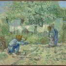 Vincent van Gogh, 1890 - First Steps, after Millet - fine art print - Metal print (Aluminium Dibond) / 60x50cm - 24x20