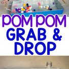 Super Easy Pom Pom Grab & Drop