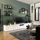 Heel veel groen (de muren en alle planten) in het interieur van Bojoura