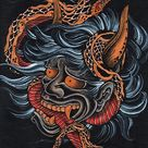 Scorned by Clark North Japanese Tattoo Hannya Snake Art Print