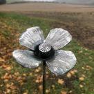Steel poppy flower