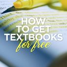 How to get textbooks for free