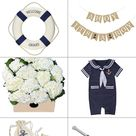 Ahoy it's a Boy! Nautical Baby Shower theme products ideas