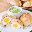 Eier Brötchen mit Bärlauchcreme   lecker macht laune