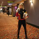 Brie Larson Wore a Captain Marvel Tracksuit to Surprise Some Very Lucky Fans on Opening Weekend