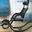 Gravity Balans Lifestyle Chair - Revive Black - Black Wood