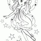 Coloring page - Elves and fairies