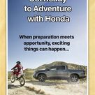 Get Ready to Adventure with Honda